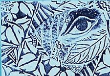 Funky Eye Design ATC Unmounted Rubber Stamp Deep Etched for Paper & Clay Art