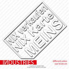 Nix Verkaufen Nix Karte Meins Aufkleber Auto 6x9,5cm Sticker Fun Autohändler