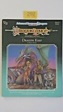 """DRAGONLANCE  """"DRAGON KEEP """" DLE3 (2nd Edt)  AD&D TSR   # 9245  1989 VNC +MAP"""