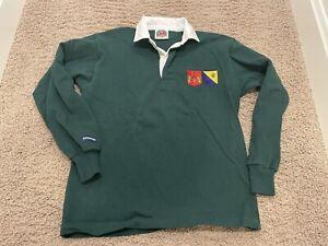 NWOT BARBARIAN Rugby Wear Long Sleeve Shirt Green MENS M Medium 100% Cotton