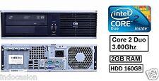 HP 7900 SFF Ordenador PC Sobremesa 160 Gb HDD 4 Gb RAM Core 2 Duo 3.00GHZ