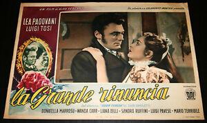 fotobusta film LA GRANDE RINUNCIA (SUOR TERESA) Lea Padovani Luigi Tosi 1951