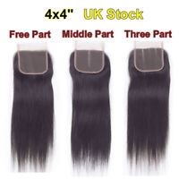 13*4 Ear to Ear Full Frontal Lace Closure Virgin Human Hair Weaves Straight