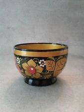 Russian Khokhloma Collectible Lacquer Vintage Folk Lore Small Bowl