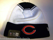 Chicago Bears NFL Knit Stocking Skull Cap Hat - New Era - White