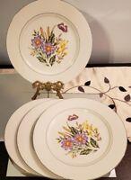 China Plates Flower Garden Vintage Set of 4