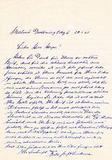 """Count Felix Graf von Luckner 1881-1966 Sea-Devil autograph letter signed 8""""x12"""""""