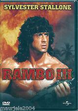 Rambo III (1987) DVD NUOVO SIGILLATO Sylvester Stallone Richard Crenna J Stainer