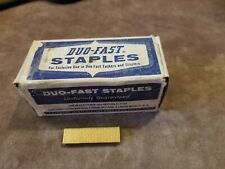 VINTAGE DUO-FAST STAPLES 9/16 5418 BRASS .