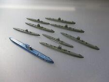 Wiking : Konvolut 10 U-Boote, plastik (Nr.29K37)