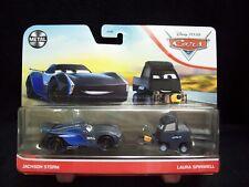 Disney Pixar Cars Metal Jackson Storm & Laura Spinwell set.