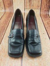 Bandolino Black Apron Toe Women Chunk Heels Shoe 7M