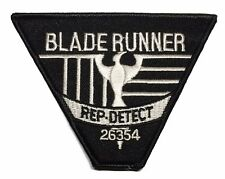 """Blade Runner Rep Detect Logo 4"""" Wide Embroidered Uniform Patch"""