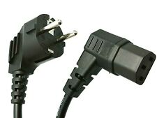 3.5m Power Cord European EU Plug Right Angle C13 Cable Kettle Lead New Black