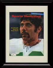 Framed Joe Namath SI Autograph Print New York Jets Super Bowl 3 Preview