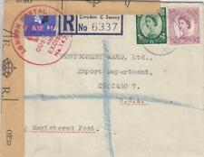 1954, Croydon, England to Chicago, Il, Censored, See Remark (C2886)