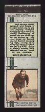 1933 DIAMOND MATCHBOOKS SILVER FOOTBALL~SYLVESTER RED DAVIS~PORTSMOUTH SPARTANS