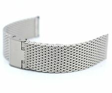 20mm Stainless Steel Shark Mesh Watch Strap Bracelet