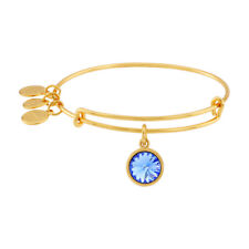 Alex And Ani September Birthstone Gold Expandable Bangle A09EB248G