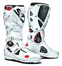 SIDI Crossfire 2 SRS White/white Motorcycle BOOTS 507555 EC 43