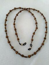 Wood Bead Eyeglass Chain Necklace