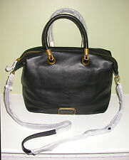 MARC BY MARC JACOBS Zip Top Leather Satchel in Black NWT $448