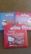 A SET OF HELLO KITTY COOK BOOKS  - CHILDRENS BOOK - COOKIES/CUPCAKES  - box AA