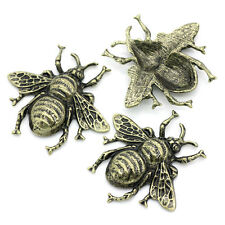 5 Embellishments HOT Findings Cabochon Bee Bronze Tone 4cmx3.7cm