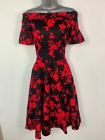 BNWT WOMEN DOLLY&DOTTY FLOWER 50'S PIN UP VINTAGE ROCKABILLY SWING DRESS SIZE 8