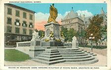 Monument Taschereau Quebec Canada Color Postcard 116509 Librairie Garneau