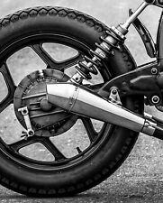 Cafe Racer Megaphone Stainless Steel Exhaust Muffler End Can