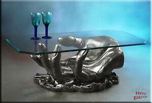 Couchtisch Tisch Glastisch Wohnzimmertisch Hand Sofa-Tisch Antik Wohnzimmer