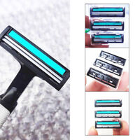 3PCS Double Layers Mens Shaver Blades Heads Stainless Steel Razor Replacement US