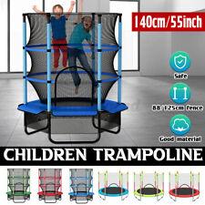 300KG Trampolin Kinder Kindertrampolin Gartentrampolin mit Netz Ø 140cm Fitness