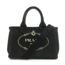 PRADA  1BG439 Tote Bag With Canapa Mini S Canvas