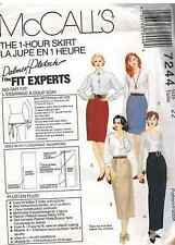 e038e1446ff McCalls 7244 1 Hour Skirt Sewing Pattern Size 16 Ladies Skirt in Four  Lengths