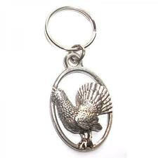 Silver Capercaillie English Pewter Keyring Handmade In England Key Ring New