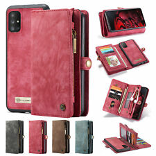For Samsung Galaxy A71 A51 Case Zipper Card Pocket Wallet Leather Flip Cover