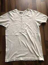 Merz b Schwanen 207 Henley Shirt Größe 5/M Natur Heritage Knopfleiste