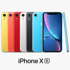 """NEW Apple iPhone XR 128GB Multi Colour 6.1"""" SIM-Free Smartphone With Accessories"""