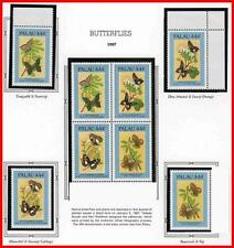 👉 PALAU 1987  endemic BUTTERFLIES  MNH INSECTS, FRUIT FLOWERS
