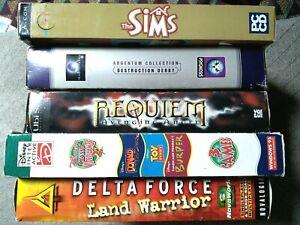 PC CD Rom Big Box Bundle x5 - Sims, Delta Force,Disney,Destruction,& Requiem