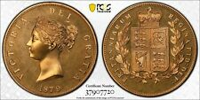 '1879' Dated Great Britain Retro Issue Crown PCGS PR67 Lot#G314 KM#X82a Bronze