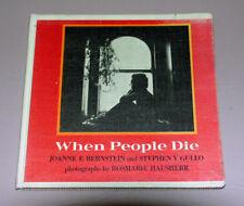 When People Die (Hardcover 1977) by Joanne Bernstein | Children Death Counseling