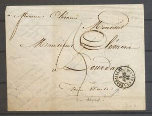 1847 Enveloppe de fortune Versailles/5e DISTon, càd AU DEPART rare Superbe X5102