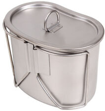 G.I. HEAVY DUTY Stainless Steel Canteen Cup With Lid, Military Outdoor UK
