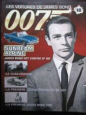 FASCICULE 18 JAMES BOND POSTER SUNBEAM ALPINE  007 CONTRE DR NO