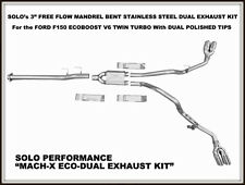 """Ford F150 Ecoboost Complete Cat Back Dual Exhaust Kit 145"""" Wheel Base"""