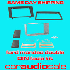 FORD MONDEO 2002> DOUBLE DIN FACIA FASCIA PLATE 2 DIN FITTING KIT CT23FD05