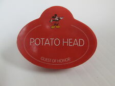 DISNEY HASBRO MR POTATO HEAD PARTS GUEST OF HONOR CASTMEMBER STYLE NAME BADGE